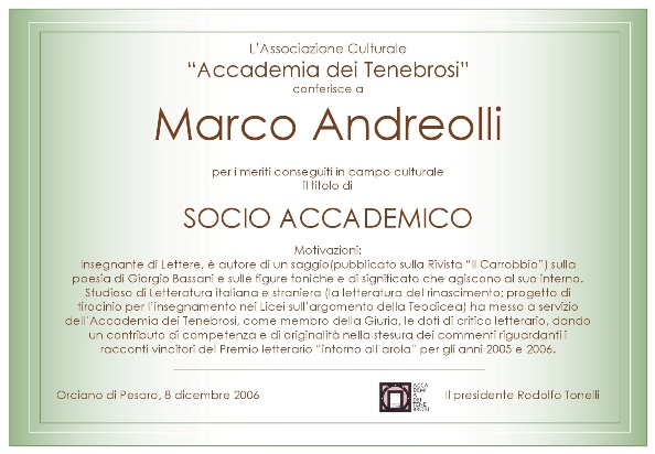 Socio Accademico Marco Andreolli